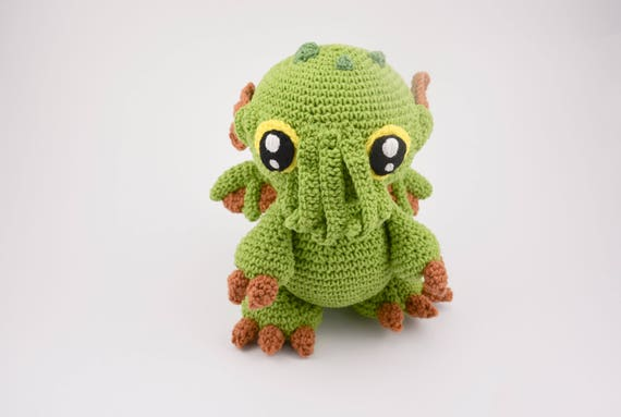 Crochet Pattern No 1718 Cthulhu Baby Monster Pattern By Etsy