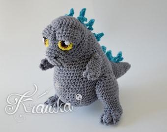 Crochet PATTERN No 2110 King of Monsters crochet pattern by Krawka
