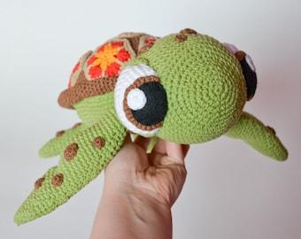 Crochet PATTERN -sea turtle by Krawka,  turtle, tortoise, sea creature, cute,