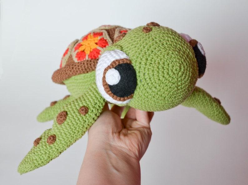 Crochet PATTERN No 1616 sea turtle by Krawka  turtle image 0