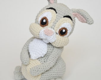 Crochet PATTERN - Easter Thumper rabbit by Krawka