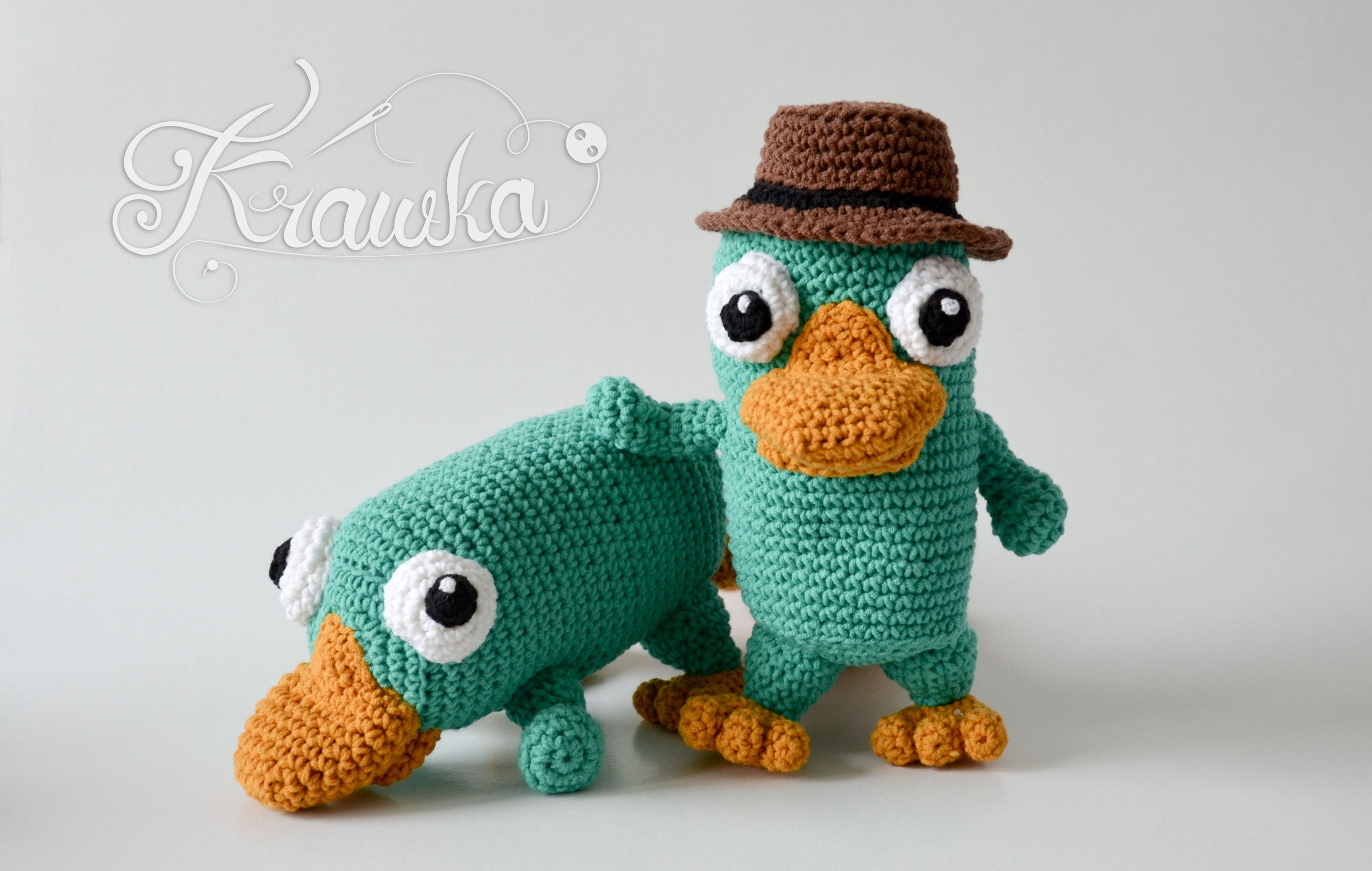 Crochet Pattern No 1813 Platypus And Agent In One Pattern By Etsy
