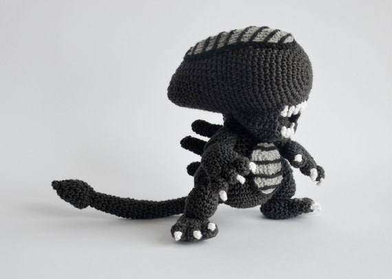 Crochet Pattern No 1706 Alien By Krawka Etsy