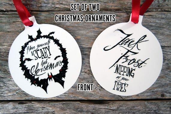 Horror Christmas Ornaments.Horror Christmas Ornaments Gothic Christmas Baubles Halloween Christmas Horror Ornaments Horror Baubles Christmas Tree Decorations