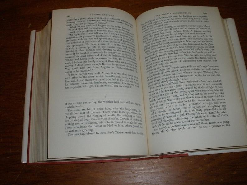 1st E Doctor Zhivago HC Book w/ DJ Pantheon Vintage 1958 Boris Pasternak VG