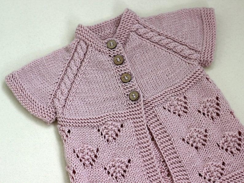 d13fde3f21b9 Vest dusty pink Knit Baby girl baby sweater short sleeve
