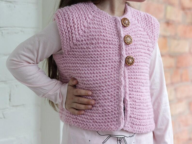 b5d043d8664b Pink Vest Hand Knit Baby girl pink vest knitted baby vest