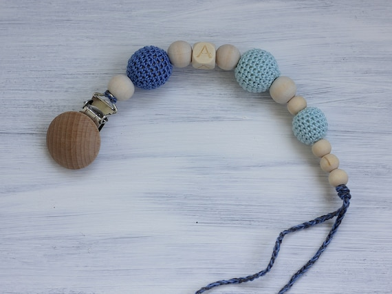 Handmade Natural Wooden Baby Teether Bracelet Lovely Animal Teething Ring Beads