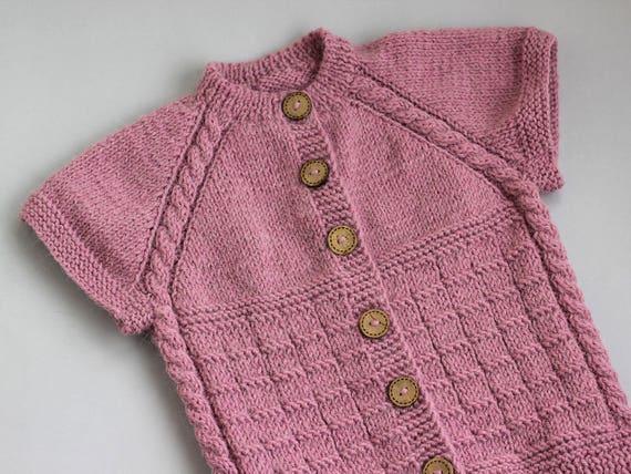 Strick Weste Rosa Baby gestrickte stricken Strickjacke | Etsy