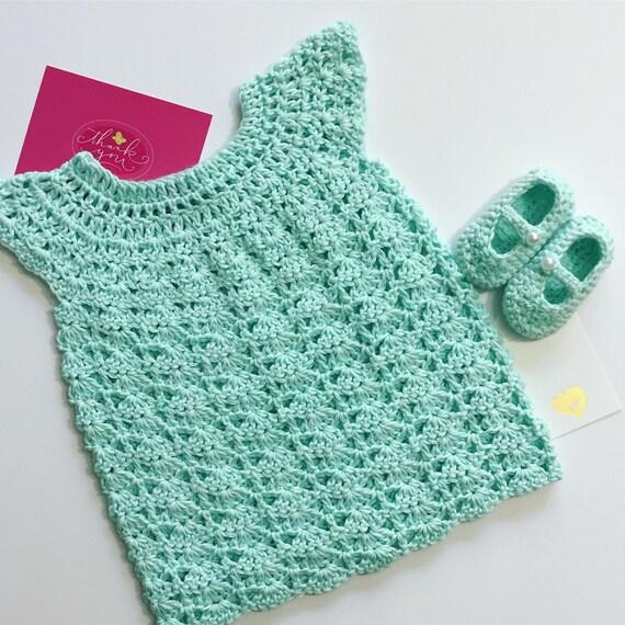 Babykleid Häkeln Babykleid Baby Schuhe Baby Outfit Etsy