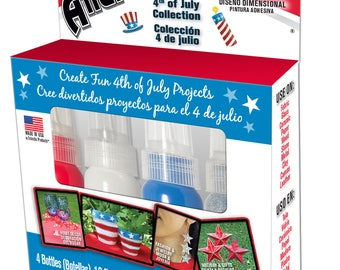 Eclectic's Red, White, Blue, and Silver Glitter Allure Dimensional Design Adhesive Paint