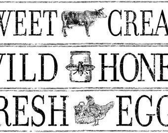 Iron Orchid Designs - Decor Transfers - Farm Fresh Signage