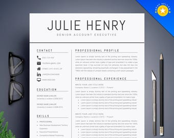 Resume Template Etsy - Buy creative resume templates