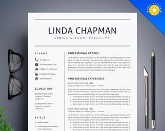 Professional Resume Template / CV Template + Cover Letter | Creative and Modern Resume | Teacher Resume | Word Resume | Instant Download