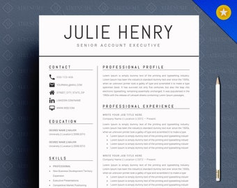 Modern Resume Etsy