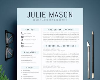 Modern Resume Template CV Cover Letter