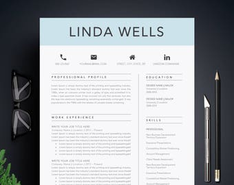 resume template cv template cover letter for ms word professional and creative resume design teacher resume instant download