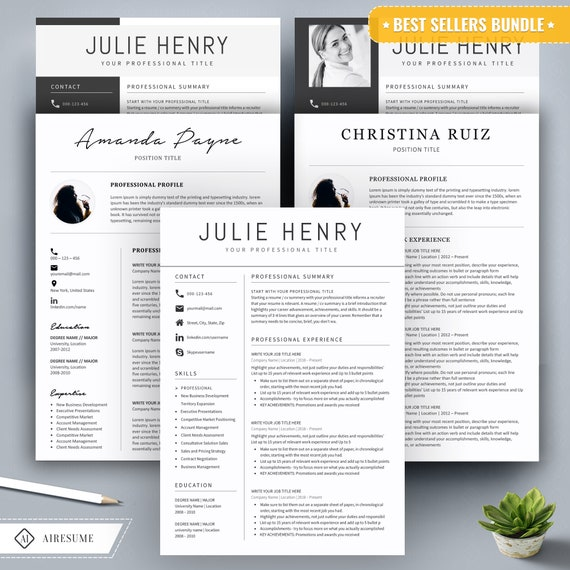 Resume Template Word Cv Template Cover Letter Teacher Resume Template Professional And Creative Resume Nurse Resume Instant Download