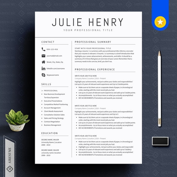 Modern Resume Template And Cover Letter Cv Template Professional And Creative Resume Teacher Resume Nurse Resume Resume Template Word