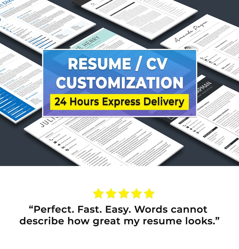 Resume Template / CV Template Editing  Free Resume Template image 0