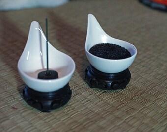 White Teardrop Incense holder