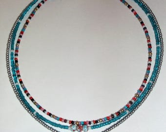 Dainty Choker Necklaces, 16 Inches Long Beaded Chokers with Extension Chain