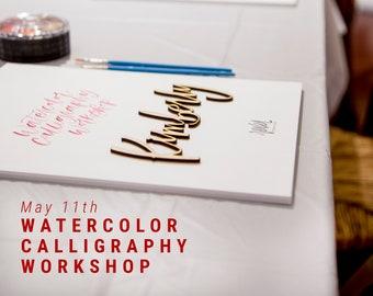 WORKSHOP - Beginners Watercolor Calligraphy Workshop - MAY 11 in Monrovia, CA