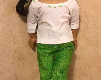 Capris and tee for 18inch dolls