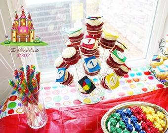 Edible UNO Cards Cake or Cupcake Toppers - 1 Dozen