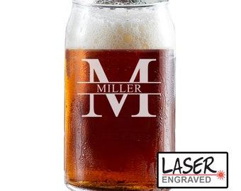 Personalized Beer Can Glass, Groomsmen Beer Glass, Personalized Can Glass, Custom Beer Mug, Groomsmen Gift, Custom Beer Can Glass Engraved