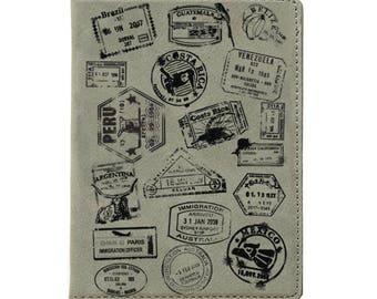 Passport Holder, Passport Cover, Personalized Passport Wallet, Wedding Gift, Husband Gift, Anniversary Gift