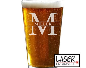 Custom Pint Glass, Personalized Beer Glass, Groomsmen Gift, Engraved Pint Glass, Beer Glasses, Personalized Pint Glass, Beer Gift
