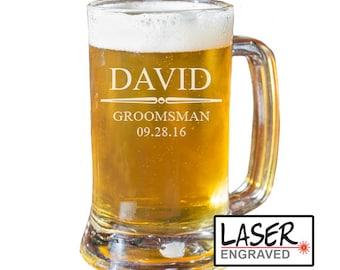 Groomsmen Beer Mug, Personalized Beer Mug, Custom Beer Mug, Groomsmen Gift, Best Man Gift, Beer Glass