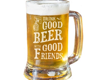 Custom Beer Mug, Personalized Beer Mug, Beer Glass, Husband Gift, Boyfriend Gift, Groomsmen Gift, Beer Gift