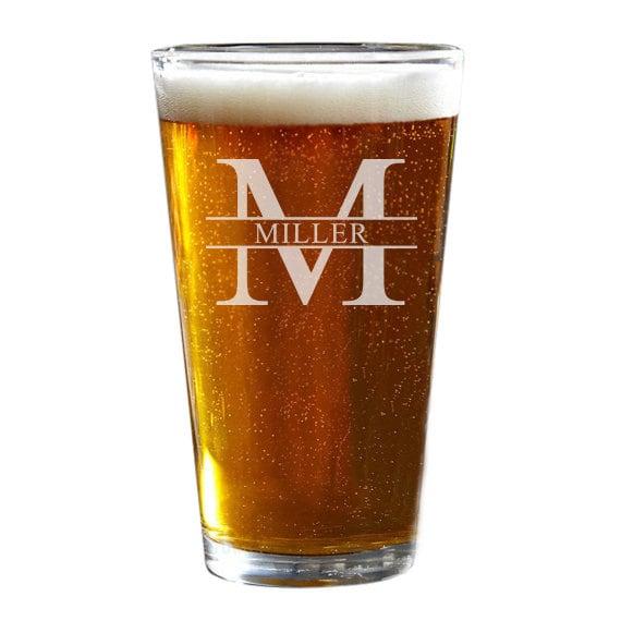 custom pint glass personalized beer glass groomsmen gift etsy