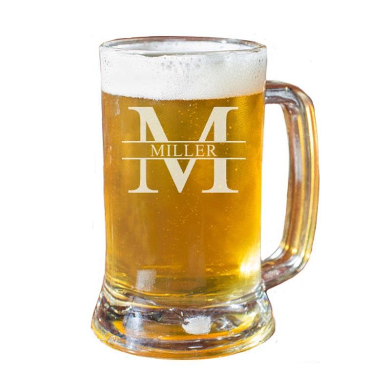 Personalized Beer Mug Custom Beer Mug Engraved Beer Mug image 0