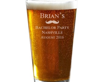 Pint Glasses, Bachelor Party, Groomsmen Pint Glasses, Custom Pint Glasses, Engraved Beer Glass, Bachelor Party Gifts, Beer Gift