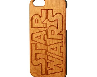Star Wars iPhone 8 case, Wood iPhone 6s case, Wood iPhone 6 case, Galaxy S6 edge wood case, Engraved iPhone 7 Case
