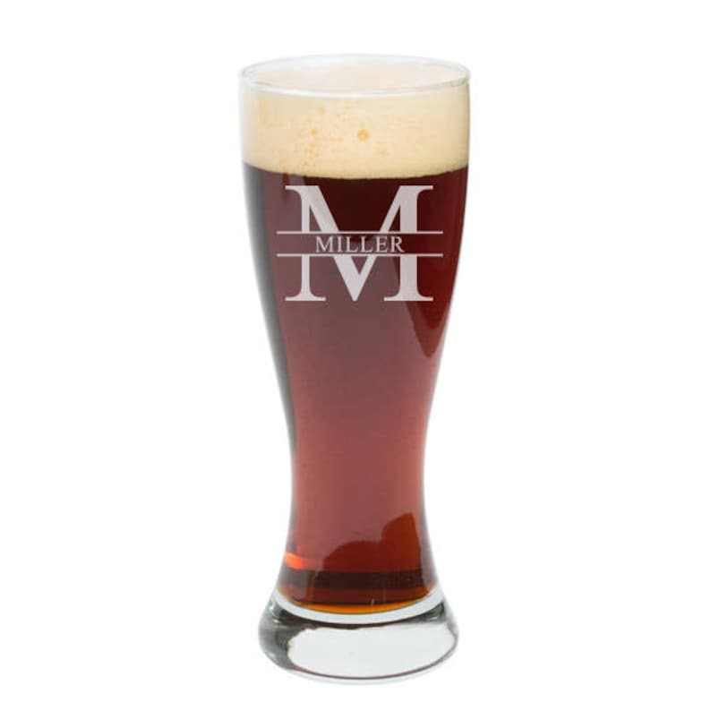 Custom Pint Glass Pilsner Glass Personalized Pilsner Beer image 0