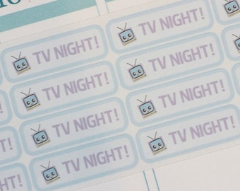 1280~~TV Tonight Boxes Planner Stickers.