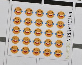 Laughing Emoji Planner Stickers, Laughing Emoji Stickers, Face Planner Stickers, Emoticon Stickers, Emoticon Planner Stickers
