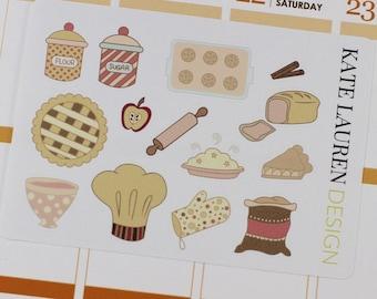 Baking Planner Stickers, Baking Stickers, Cooking Stickers, Cooking Planner Stickers, Erin Condren Planner Stickers