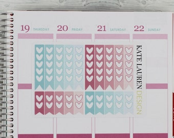 May Heart Checklist Stickers for Erin Condren Planner, May Checklists,  May Planner Stickers