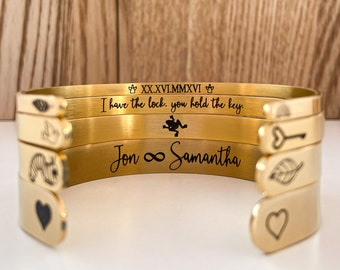 Customize Inspirational Bracelet Mantra Encouragement Gifts for Daughter Confidence Stamped Secret Message Jewelry Quote Friend Cuff Bangle