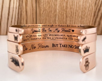 Rose Gold Cuff, Personalized, Gift, Cuff Bracelet, Jewelry, Engraved Bracelet, Mother In Law Gift, Sister In Law Gift, Bracelets For Women