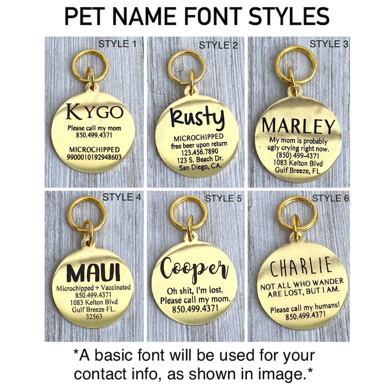 Dog ID Tag Pet ID Tag Dog Name Tag Personalized Dog Tag Custom Dog Tag Engraved Dog Tag Dog Tag Custom Pet Tag Personalized Pet Tag