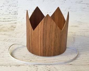 Woodland Birthday Crown- Wood Crown Photo Prop, Woodland 1st Birthday, Smash Cake Crown, Boy Crown Photo Prop, First Birthday