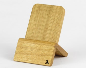 Designer Dockingstation (Oak - Edition Straight) for iPhones and Android Phones with/without cases (Lighthing, Micro-USB, USB-C)