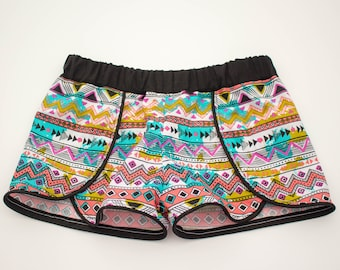 Girl Coachella Shorts - Aztec design Shorts - Summer Shorts - Toddler Shorts - Girls Shorts - Children Clothes - Geometric Design shorts