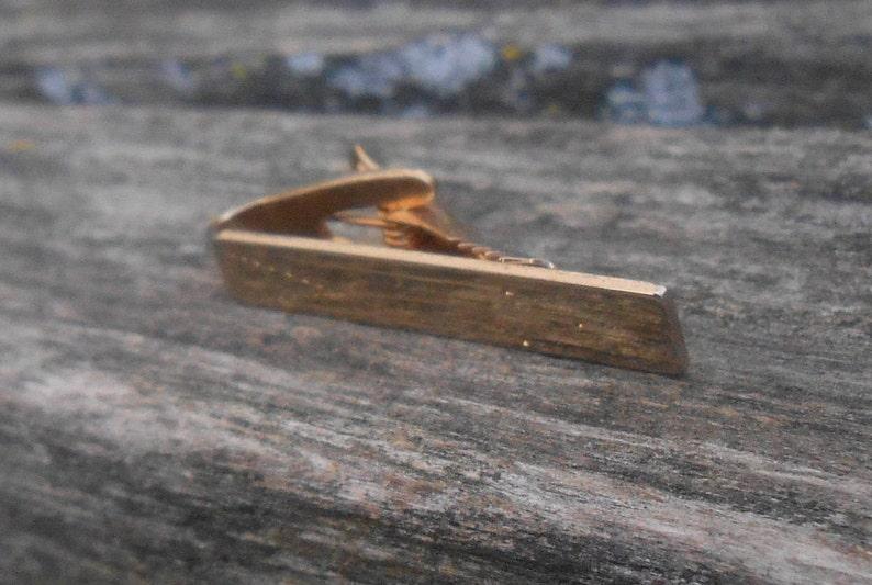 85c3a50f2cd9 Vintage Gold Tie Clip. Men Groomsmen Gift Dad. | Etsy